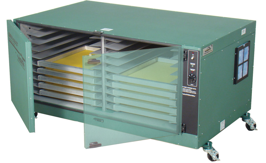 Heated Drying Cabinet ~ Drying cabinet for screen printing vastex