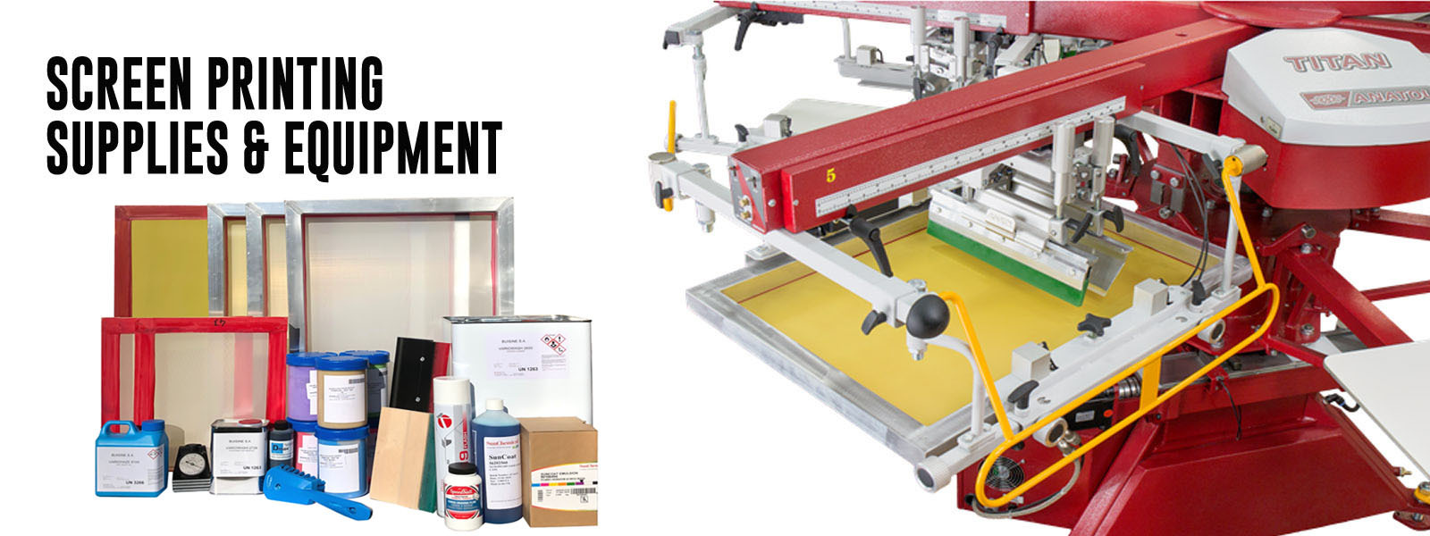 Screen printing and digital machine and supplies